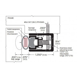 ZERO 770FS-AA/BK/D/G Intumescent Fire Stop Neoprene - Gasketing