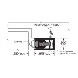 ZERO 870AA/BK/D/G Silicone / Adjustable - Gasketing