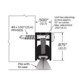 ZERO 871AA/BK/D/G Pile Brush / Adjustable - Meeting Stile