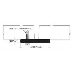 ZERO 905A/BK/D/G Astragal - Gasketing