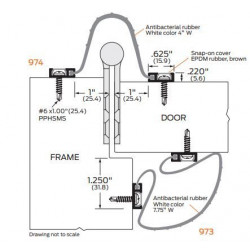 ZERO 973AA/BK/D/G BioWall Antibacterial rubber, white - Finger Guard