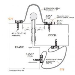 ZERO 974AA/BK/D/G BioWall Antibacterial rubber, white - Finger Guard