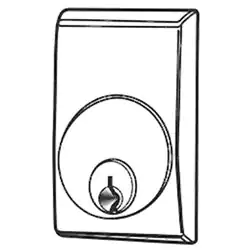 """Adams Rite 8650 Cylinder Escutcheon Kit for wall thickness over 1/8"""""""