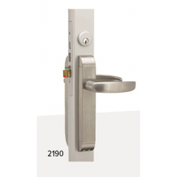 Adams Rite Dual Force 2190 Interconnected Deadbolt/Deadlatch mounted complete with electrified trim set