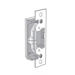 """Adams Rite UltraLine 7440 Electric Strike mounted complete with 4-7/8"""" faceplate, 628 finish"""