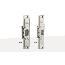 Adams Rite UltraLine 74R1/R2 Electric Strike for rim exit devices with Pullman latches mounted complete, 130 finish