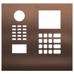 DoorBird D21DKH Front Panel, Stainless Steel V4A, Brushed, PVD Coating with Bronze-Finish