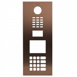 DoorBird D21DKV Front Panel, Stainless Steel V4A, Brushed, PVD Coating with Bronze-Finish