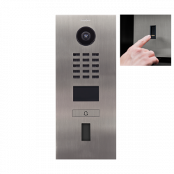 DoorBird D2101FV EKEY IP Video Door Station, 1 Call Button, cut-out for fingerprint reader ekey Home FS OM I