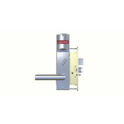 Corbin Russwin ML2000 Series Mortise Locksets with Frascati, Merlot, Zinfandel Lever & VN Escutcheon Status Indicator