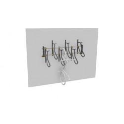 Sport Works 300322(-0027) Vertical Rack, Bike Support Loop, No Scratch, Rh, Mild Steel, Steel Gray