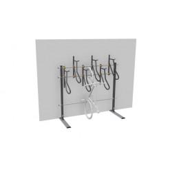 """Sport Works 30031 Vertical Rack, 3 x Cross-Members, 18"""" Spacing, Mild Steel, Galvanized"""