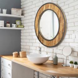 Bain Signature Wood Decorative Mirror