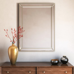 Bain Signature Glendale Beaded Decorative Mirror with Rectangular Shape
