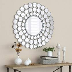 Bain Signature Palma Solar Framed Decorative Mirror with Silver Finish