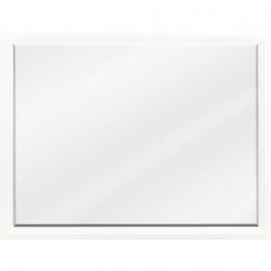 Elements MIR106 Compton White Reed Frame Mirror with Beveled Glass