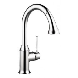 Hansgrohe 4215000 Talis C 2-Spray HighArc Kitchen Faucet, Pull-Down