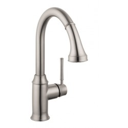 Hansgrohe 4215800 Talis C 2-Spray HighArc Kitchen Faucet, Pull-Down