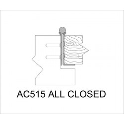 ABH AC515 Stainless Steel Barrel Continuous Hinges Full Mortise