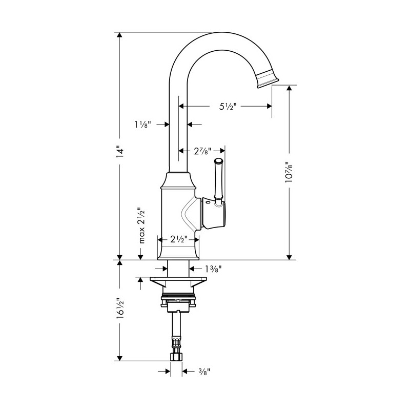 Hansgrohe 4217800 Talis C Bar Faucet