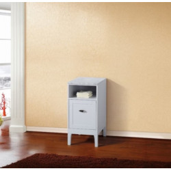 Bellaterra 7711-WH-WH 16 In Cabinet In White With Marble Top In White