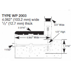 """Wooster WP2003 Profiles For New Concrete Stairs 5/8"""" Thick 4 1/16"""" Width Two Stage Sections"""