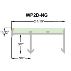 """Wooster WP2D-NG Niteglow (Glow in the Dark) Spectra Sure-Hold Anchor Sections 2 1/16"""" Wide 3/8"""" Thick"""
