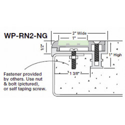 """Wooster WP-RN2-NG Two Stage Section 2"""" Wide 1/2"""" Thick"""