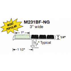 """Wooster M231BF-NG Other Section 3"""" Wide 1/4"""" Thick"""