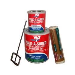 Wooster Anti-Slip Epoxy Coating Walk-A-Sured Barefoot-60 1 Gal Kit Clear
