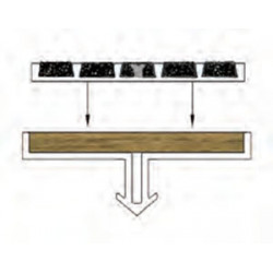 Wooster Niteglow (Glow in the Dark) 630B-A Two Stage Section Base With Wood