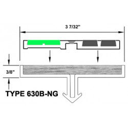 """Wooster 630B-NG-NO Niteglow (Glow in the Dark) Two Stage Section 3 1/4"""" Wide 7/32"""" Thick (No Wood Insert)"""