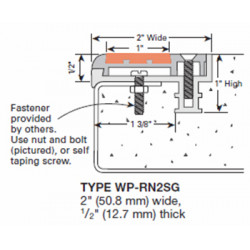 Wooster WP-RN2-SGB Profiles For New Concrete Stairs And For Steel Pan Two Stage Sections Insert Only