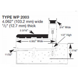 """Wooster WP2003-NO Profiles For New Concrete Stairs 5/8"""" Thick Two Stage Sections"""