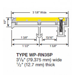 Wooster WP-RN3-A Spectra Profiles For New Concrete Stairs Two Stage Sections Base With Wood