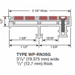 Wooster WP-RN3-A Supergrit Profiles For New Concrete Stairs And For Steel Pan Two Stage Sections Base With Wood