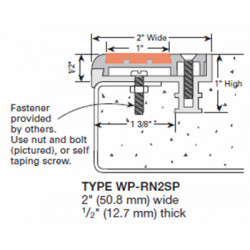Wooster WP-RN2-A Spectra Profiles For New Concrete Stairs Two Stage Sections Base With Wood