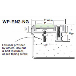 """Wooster WP-RN2-NG-NO Two Stage Section 2"""" Wide 1/2"""" Thick"""