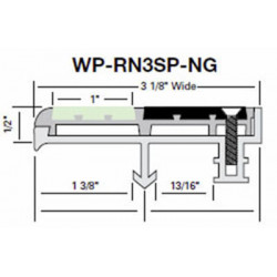 """Wooster WP-RN3SP-NG-NO Niteglow (Glow in the Dark) Two Stage Section 3 1/8"""" Wide 1/2"""" Thick (No Wood Insert)"""