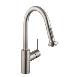 Hansgrohe 4286800 Talis S 2-Spray Prep Kitchen Faucet, Pull-Down