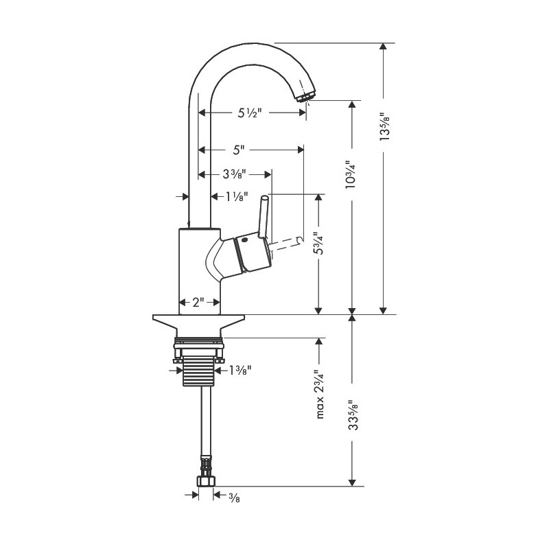 Hansgrohe 4287000 Talis S Bar Faucet
