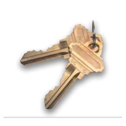 GMS KB Brass Key Blank