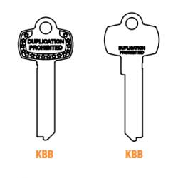 GMS KBB Nickel silver Key Blank