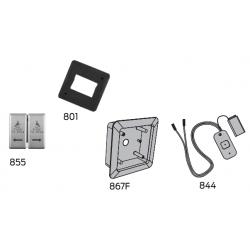 """LCN 8310 Series Wall Mount Box Actuators-4-3/4"""" Square Dual Vestibule"""