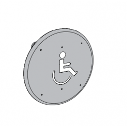 """LCN 8310 Series Wall Mount Actuator 6"""" Round, Logo"""