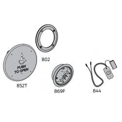 """LCN 8310 Series Wall Mount Box Actuator 6"""" Round Logo"""