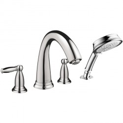 Hansgrohe 6123000 Swing C 4-Hole Roman Tub Set Trim with Lever Handles
