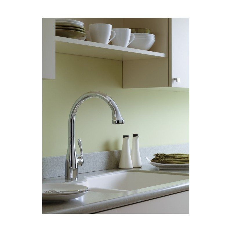 hansgrohe allegro e kitchen faucet hansgrohe 6460000 allegro e gourmet 2 spray semipro kitchen faucet pull down 7818