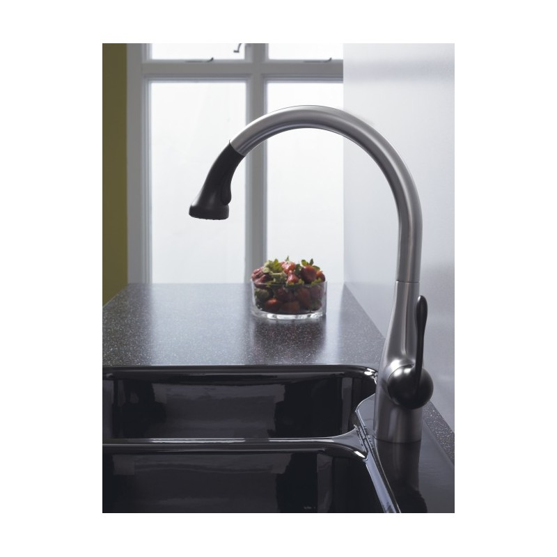 hansgrohe allegro e kitchen faucet hansgrohe 6460860 allegro e gourmet 2 spray semipro kitchen faucet pull down 4812