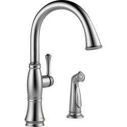 Delta 4297-DST Single Handle Kitchen Faucet with Spray Cassidy™